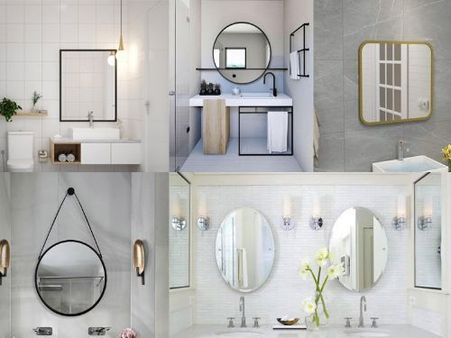Hình minh họa: Có nhiều loại kính gương soi wc, trang trí hiện nay